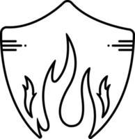 lijn pictogram voor vuur vector