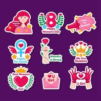 gelukkige vrouwendag sticker vector
