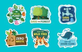 aarde dag stickers