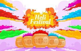 holi festival kleurrijke achtergrond vector