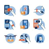 contactloze technologie pictogram vector