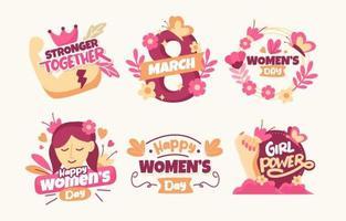 Vrouwendag stickercollectie vector