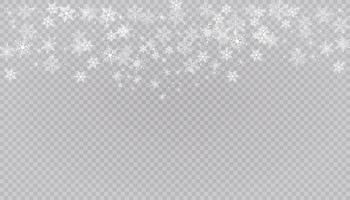 witte sneeuw vliegt achtergrond. kerst sneeuwvlokken. winter blizzard achtergrond illustratie.