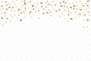 veel vallende luxe gouden confetti. verjaardagsviering. vector illustratie