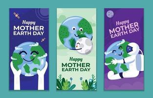 moeder aarde dag banner set
