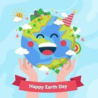 gelukkige aarde dag achtergrond vector