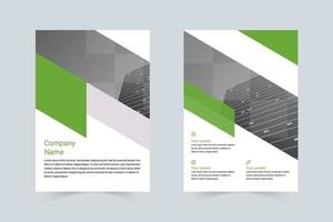 minimalistische bedrijf a4 flyer vector