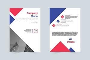 eenvoudige stijl bedrijfsintroductie flyer vector