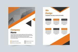 eenvoudige bedrijfsintroductie a4 folder vector