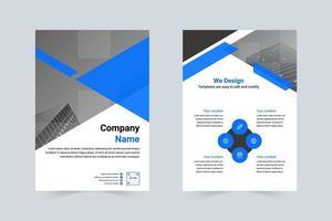 blue enterprise company a4 folder vector