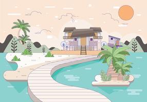 Beach Resort Illustratie Vol 2 Vector