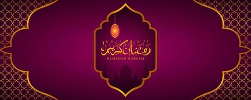 ramadan kareem met gouden ornamenten