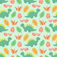 schattige dinosaurussen patroon ontwerp vector illustratie naadloze patroon met dinosaurussen