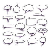 stripboek tekstballonnen op een halftone achtergrond. vector formaat.