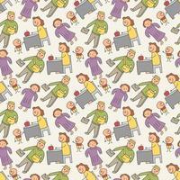 patroon naadloze kinderen en beroep doodle element. naadloze doodle familie patroon