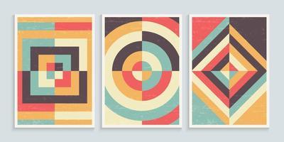 geometrische minimalistische kunstposters in vintage kleuren vector