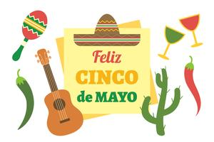 cinco de Mayo achtergrond vector