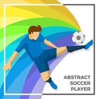 Platte abstracte voetballer Vector