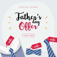 Gelukkige vaders dag verkoop achtergrond vector