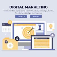 Vector digitale marketing ontwerp illustraties