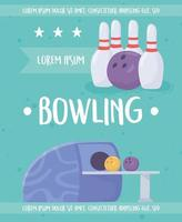bowling poster sjabloon vector
