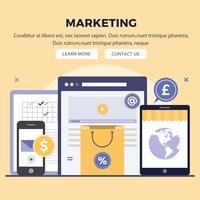 Vector digitale marketing ontwerp illustratie