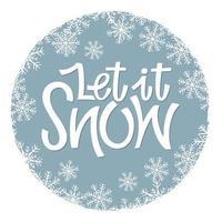 laat het sneeuwen vector