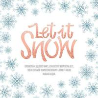 sneeuw Decoratief frame vector