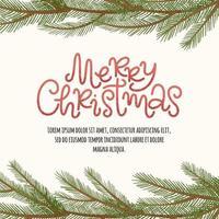 vrolijk kerstframe vector