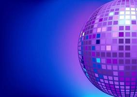 illustratie van spiegel discobal voor achtergrond ontwerpsjabloon vector