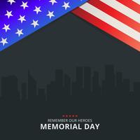Memorial Day Decoratie Illustratie Sjabloon