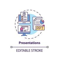 presentaties concept pictogram
