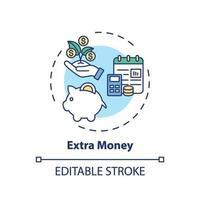 extra geld concept pictogram vector