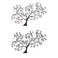 boomtak liefde vector ilustration ontwerp