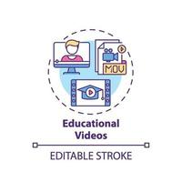 educatieve video's concept pictogram