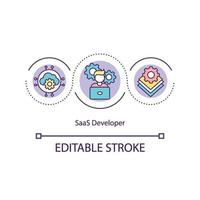 saas ontwikkelaar concept pictogram vector