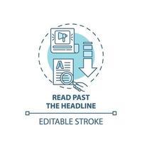 lezen verleden kop concept pictogram vector