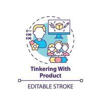 knutselen aan het pictogram van het productconcept
