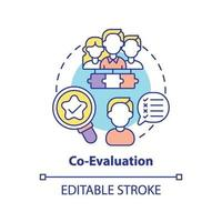 co-evaluatie concept pictogram vector