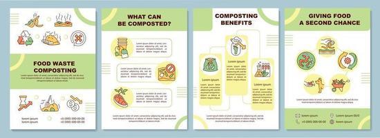 brochure sjabloon voor compostering van voedselafval vector