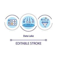 data lake concept pictogram vector