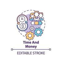 tijd en geld concept pictogram vector