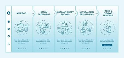 thuis spa routine onboarding vector sjabloon