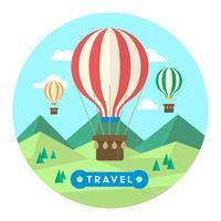 Hete lucht ballon illustratie vector