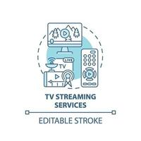 tv-streamingdiensten concept pictogram