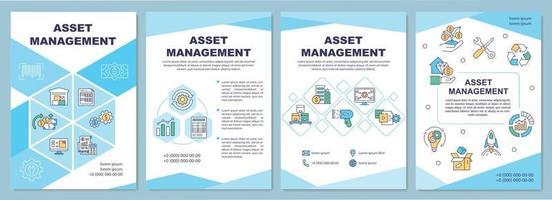 asset management brochure sjabloon vector