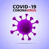 covid-19 paars virus. vector illustratie.