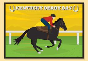 Kentucky derby ansichtkaart vector