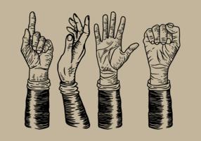 Vintage hand tekenen vector