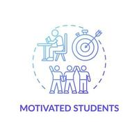gemotiveerde studenten concept pictogram vector